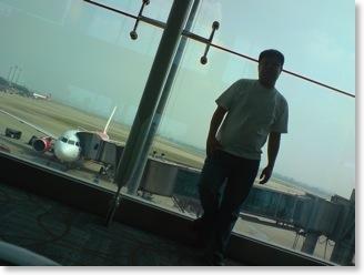 Waiting for my flight in Baiyun airport
